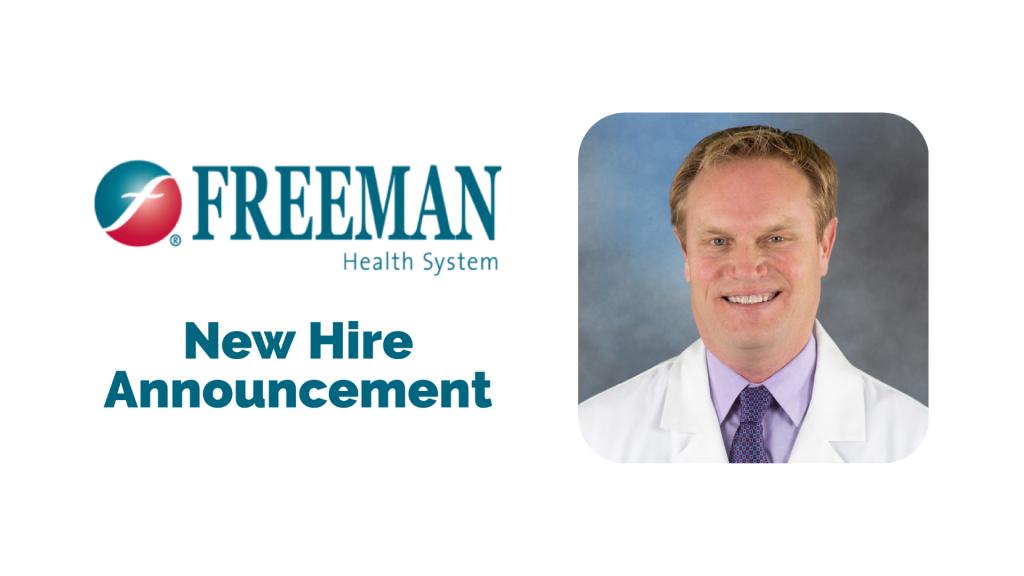 Freeman Welcomes New Robotic Urology Surgeon